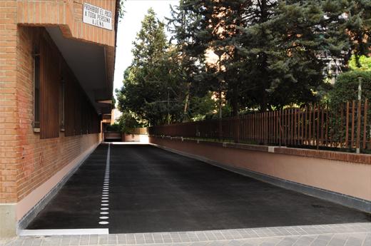 imagen final del asfalto fundido