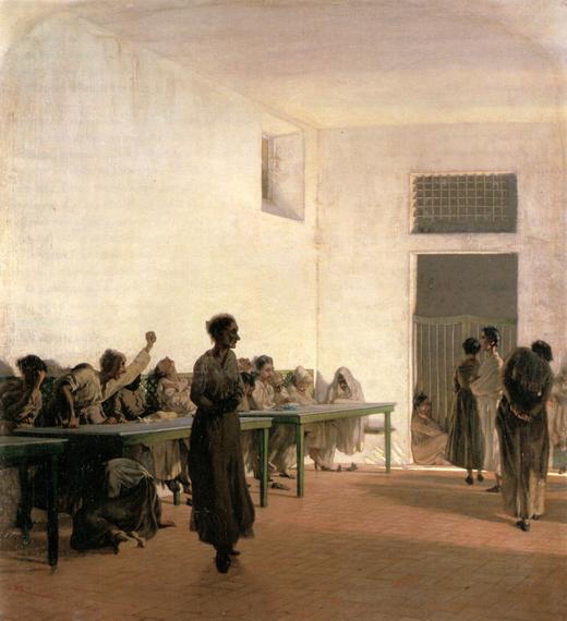 La sala de las locas en San Nicasio