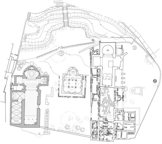 Planta de yacimientos de la Seu d'Egara en Terrassa, Barcelona.