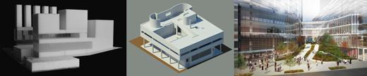 Progresión de las maquetas al modelado de edificios